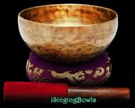 "New Tibetan Singing Bowl #9387 : Thadobati 6 3/4"", A#3 & F5."