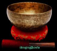 "New Tibetan Singing Bowl #9399 : Thadobati 7 1/4"", A#3 & F5."