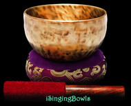 """New Tibetan Singing Bowl #9410 : Thadobati 6 """", D4 & G#5."""