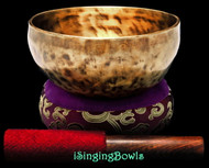 "New Tibetan Singing Bowl #9432 : Thadobati 6 1/2"", D4 & G#5."