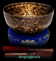 "New Tibetan Singing Bowl #9466 : HW 8 1/2"", D3 & G3."