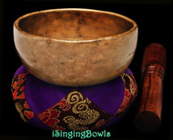 "Antique Tibetan Singing Bowl #9602 :  Cup 4 3/4"", circa 17th Century, D#5 & A6."