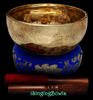 "New Tibetan Singing Bowl #9638 : Jhumka 8 1/8"", C4 & F#5."