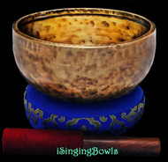 "New Tibetan Singing Bowl #9619 : Jhumka 7 3/4"", C4 & G5."