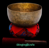 "Antique Tibetan Singing Bowl #9616 : Thado 6 7/8"", ca. 18th Century, F3 & B4."