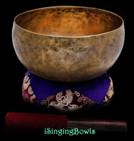 "Antique Tibetan Singing Bowl #9667 : Lotus 7 7/8"", ca. 19th Century, A2 & D#4."