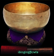 "Antique Tibetan Singing Bowl #9649 : Lotus 7 3/8"", ca. 17th Century, B2 & F#4."