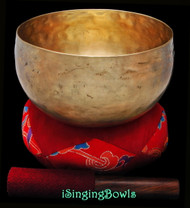 "Antique Tibetan Singing Bowl #9653: Lotus 7 3/8"", circa 18th Century, F#2 & C4."