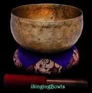 "Antique Tibetan Singing Bowl #9654 : Lotus 7 3/8"", ca. 19th Century, A#2 & E4."