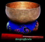 "Antique Tibetan Singing Bowl #9661: Lotus 7"", circa 18th Century, C3 & F#4."