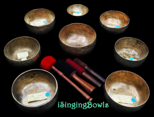 Antique Tibetan Singing Bowl Set #100