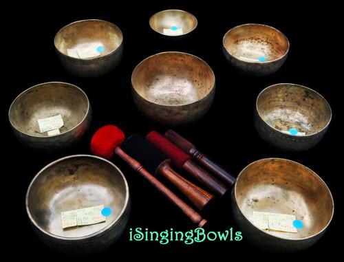 Antique Tibetan Singing Bowl Set #100
