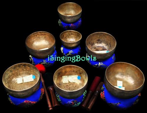 Antique Tibetan Singing Bowl Set #114