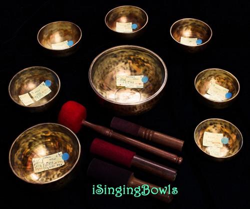 Tibetan Singing Bowl Set #117