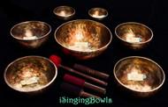 Tibetan Singing Bowl Set #121: Cycle of Fifths, w/ 432 Hz tuning (7 pc.)