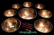 Tibetan Singing Bowl Set #101: Master-Healing Diatonic (8 pc.)
