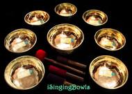 Tibetan Singing Bowl Set #118: Master-Healing  Diatonic (8 pc.)