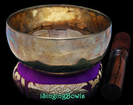 "New Tibetan Singing Bowl #9675: Cup 5 1/4"",  G#4 & D6."