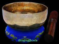 "New Tibetan Singing Bowl #9684: Cup 4 7/8"",  A#4 & E6."