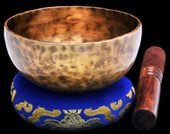"New Tibetan Singing Bowl #9739: Cup 5 3/8"",  E4 & A#5."