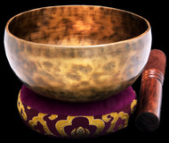 "New Tibetan Singing Bowl #9743: Cup 5 3/8"",  F#4 & B5."