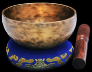 "New Tibetan Singing Bowl #9745: Cup 5 3/8"",  G4 & C#6."