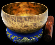 "New Tibetan Singing Bowl #9738: Cup 5 1/2"",  E4 & A#5."