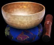 "Antique Tibetan Singing Bowl #9753: Cup 5 1/4"",  B4 & F6."