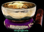 "New Tibetan Singing Bowl #9699: CBJ 4 3/4"",  C#5 & G6."
