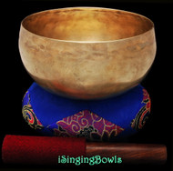 "Antique Tibetan Singing Bowl #9755 : Lotus 6 7/8"", circa 18th Century, C3 & F#4."