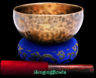 "New Tibetan Singing Bowl #9724 : Thadobati 6 1/2"", C4 & F#5."