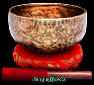 "New Tibetan Singing Bowl #9732 : Thadobati 7 1/2"", C4 & F#5."