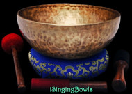 "New Tibetan Singing Bowl #9749 : HW 12 1/8"", D2 & A#3."