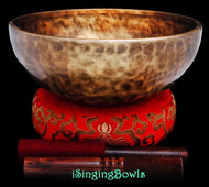 "New Tibetan Singing Bowl #9727 : HW 9 3/4"", D3 & A4."