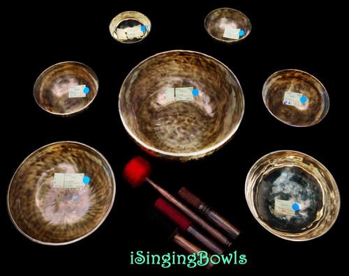 Tibetan Singing Bowl Set #124