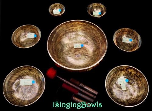 Tibetan Singing Bowl Set #125