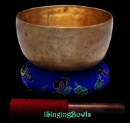 "Antique Tibetan Singing Bowl #9328 : Lotus 7 1/4"", circa 18th Century, F3 & B4."