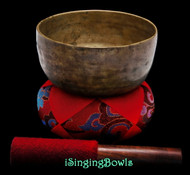 "Antique Tibetan Singing Bowl #9615 : Thado 6 1/4"", ca. 18th Century, C4 & F#5."