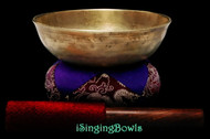 "Antique Tibetan Singing Bowl #9759:  LWTL 6 1/4"", circa late 18th Century, C4 & F#5."