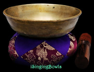 "Antique Tibetan Singing Bowl #9760:  LWTL 6"", circa 18th Century, D#4 & A5."