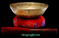 "Antique Tibetan Singing Bowl #9767:  LWTL 6 1/8"", circa late 17th Century, G#3 & D5."