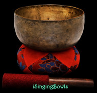 "Antique Tibetan Singing Bowl #9531 : Thado 6 3/4"", ca. 18th Century, A3 & D#5."