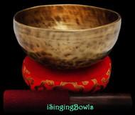 """New Tibetan Singing Bowl #9081 : Thadobati 7"""", A3 & E5."""