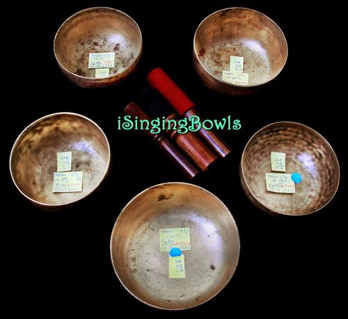 Antique Tibetan Singing Bowl Set #123