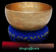 "New Tibetan Singing Bowl #9281 : Thadobati 7 1/2"", F#3 & C5."