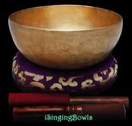 "New Tibetan Singing Bowl #9284 : HW 8"", F#3 & C5."