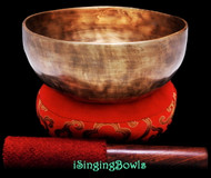 "New Tibetan Singing Bowl #8661 : Thadobati 7"", G#3 & D#5."