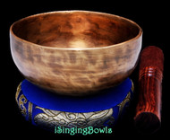 "New Tibetan Singing Bowl #8666: CB 5 1/8"",  G#4 & C#6."