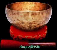 "New Tibetan Singing Bowl #8913 : Thadobati 7"", G#3 & D#5."