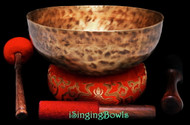 "New Tibetan Singing Bowl #9210 : HW 10 1/8"", F#2 & C4."